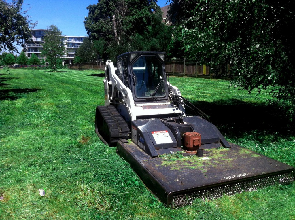 Rough Mowing Services in Surrey - also known as Rough Cut Mowing or grass cutting. We serve Langley and Metro Vancouver